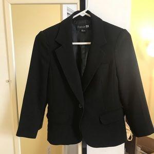 Forever 21 black 3/4 sleeve women's blazer